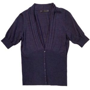 The Limited Purple Short Sleeve Sweater Size Med